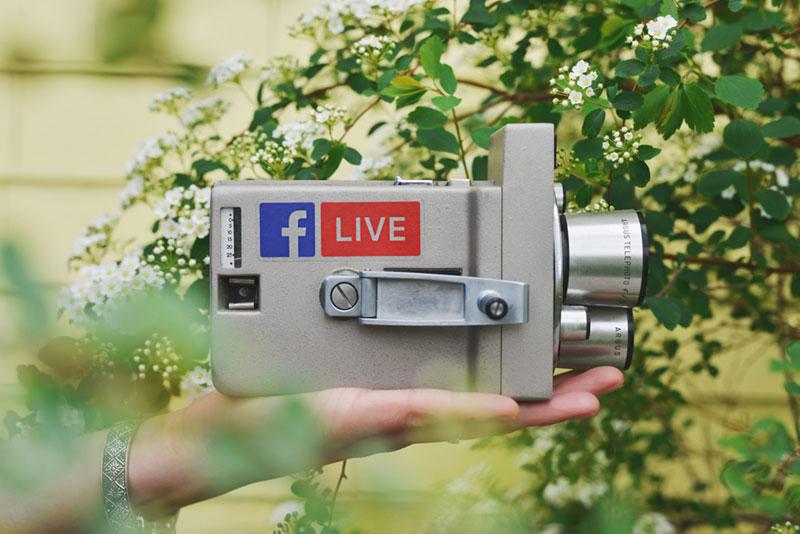 FB LLIve logo on a camera